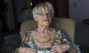 pensioner has do not resuscitate me i m 91 tattooed across