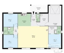 plan maison contemporaine plain pied 3 chambres plan maison rdc 3 chambres de traditionnelle gratuit plain pied