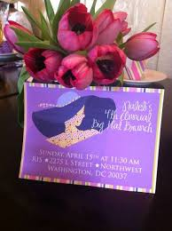 big hat brunch invitations big hats birthday party ideas photo 1 of 13 catch my party