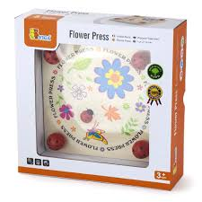 childrens wooden flower leaf petal press kids wood craft toy set