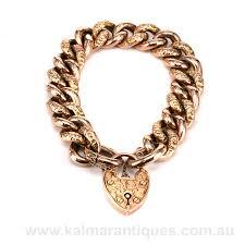 rose link bracelet images Antique rose gold night and day curb link bracelet jpg