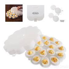 easter deviled egg plate set of 2 deviled egg trays carrier platters with lids travel