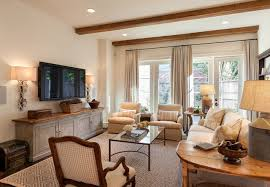 console table under tv oak estates traditional family room houston by frankel