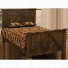 fireside lodge furniture frontier timber frame headboard santa