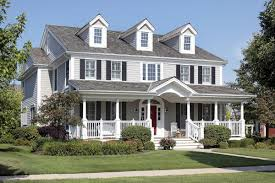 classic american style house with beautiful front deck house
