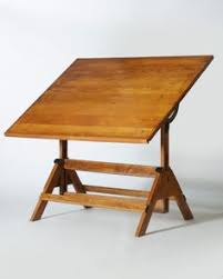 Vintage Drafting Table Antique Industrial 1900 U0027s Turn Of The Century Drafting Table With