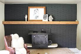 Wood Mantel Shelf Pictures by Remodelaholic Easy Wood Mantel For Brick Fireplace