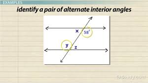 Same Side Interior Definition Alternate Interior Angles Definition Theorem U0026 Examples Video