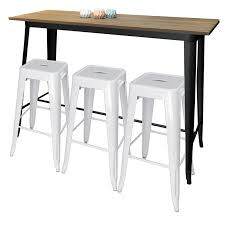 Tolix Bar Table Tolix Bar Table Black 152x60x107cmtolix Stools 76cm White800x800px
