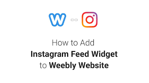 how to add instagram feed widget to weebly website 2018 youtube