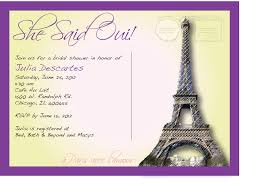 Bridal Shower Invitation Cards Designs French Themed Bridal Shower Invitations Kawaiitheo Com