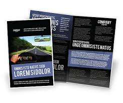 drive brochure templates high speed driving brochure template design and layout