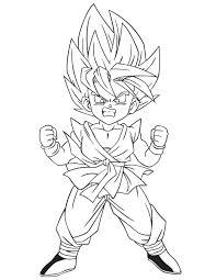 dragon ball coloring sheets super saiyan 4 goku free coloring