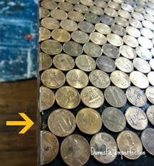 Bathroom Floor Pennies Penny Countertop Domestic Imperfection