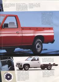 nissan mexico nissan d21 hardbody pickup dealer brochure for mexico nicoclub