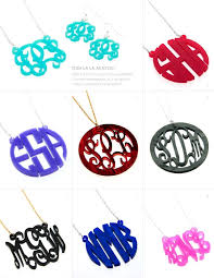 Monogram Pendant Necklace With Initials 31 Best Monogram Pendants And Monogram Initial Necklaces Images On