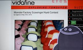 monster factory scavenger hunt contest vidafine
