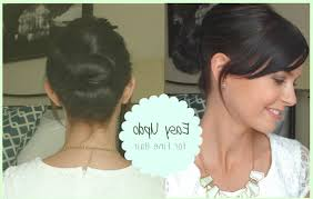casual hairstyles for long thin hair easy updo for fine