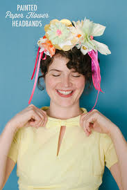 flower headbands painted paper flower headbands diy