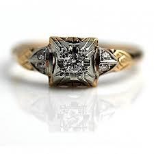 antique engagement ring rose gold 16ctw old european cut diamond