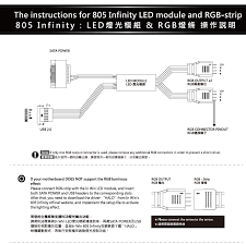 how to power led strip lights 805 infinity trouble getting the lights to work correctly in