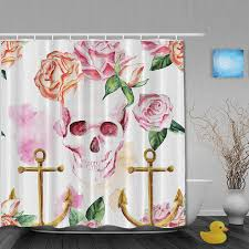 Shabby Chic Shower Curtain Hooks by Pink Rose Shower Curtain Hooks Best Curtain 2017