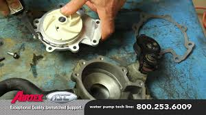 how to install a water pump mazda 3 0l wp 9035 aw4091 youtube