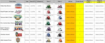 Time Study Spreadsheet Download A Free 2013 Ncaa College Football Bowl Prediction Pool