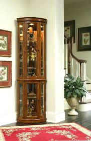 curio cabinet with light corner curio cabinets meallion black cabinet canada solid wood with