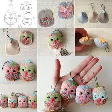 creative ideas diy felt and pinecone owl ornaments