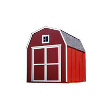 handy home products montana 8 ft x 10 ft wood storage shed 18361