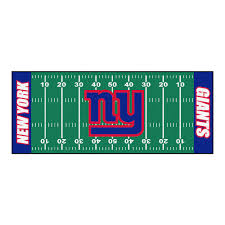 New York Area Rug by Fanmats New York Giants 2 Ft 6 In X 6 Ft Football Field Runner