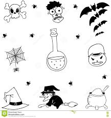 Draw Halloween Set Of Halloween Doodle Hand Draw Stock Vector Image 73017816