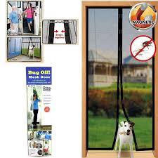 Patio Door Magnetic Screen Instant Mesh Screen Door Magnetic Free Bug Mosquito Fly Pet