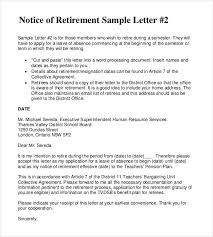 retirement letter templates 31 free sample example format