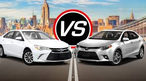 Camry Engine Specs 2016 Toyota Camry I4 Vs Corolla Spec Comparison Youtube