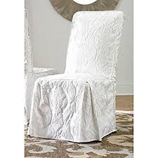 Damask Dining Room Chair Covers Sure Fit Matelasse Damask Dining Room Chair Cover