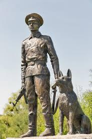 guard dog statue statue of soviet border guard with a dog in lysianka ukraine