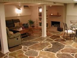 Concrete Floor Ideas Basement Pleasant Design Tile For Basement Concrete Floor Best 25 Basement