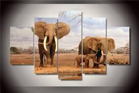chambre de d馗ompression hd imprimé africain éléphants peinture impression sur toile chambre