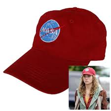 Nasa Halloween Costume Nasa Insignia Embroidered Red Hat Tomorrowland Casey Newton