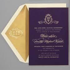 monogram wedding invitations wedding invitations by location purple gold ballrooms and
