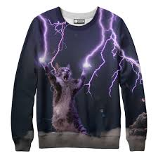 cat sweater lightning cat sweatshirt