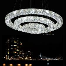Ac00 240v Three Side Remote Control Led Crystal Chandelier Pendant
