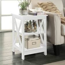 white wood end table antique white end tables wayfair