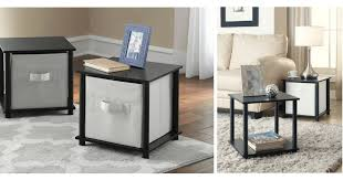 Storage Side Table Runnn Set Of 2 Cube Storage Side Tables Only 5 For Both