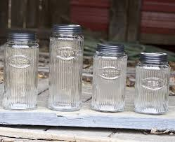 Glass Kitchen Canister by Vintage Kitchen Canister Sets Explanation All Home Decorations