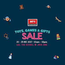 20 25 dec 2017 mph book toys gifts sales at jaya one