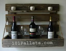 handmade pallet wine rack with rustic shelf 101 pallets