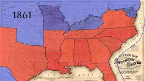 Civil War States Map Map Us Civil War